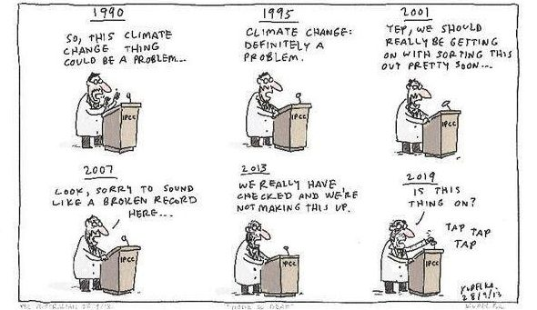 IPCC Report on Global Warming of 1.5c Kudelka