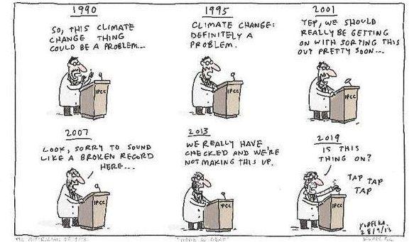 IPCC Report on Global Warming of 1.5c Kudelka
