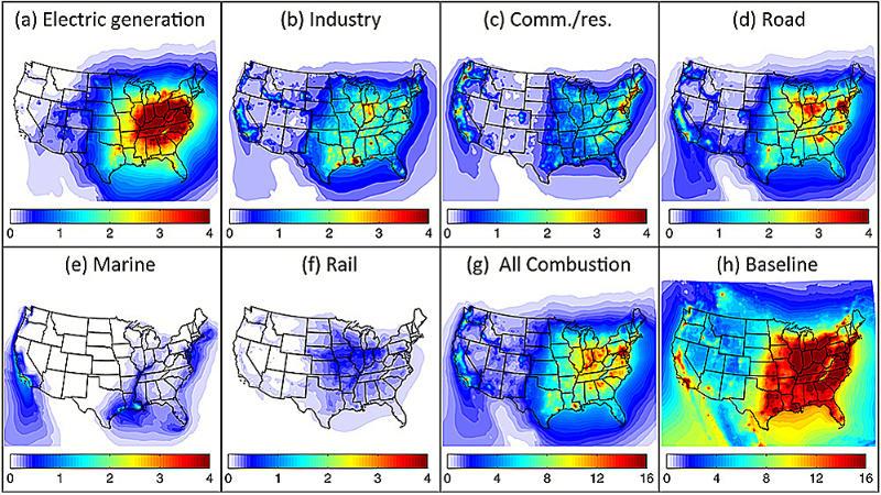 Air pollution deaths in US - MIT study